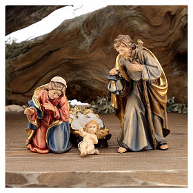 Large hut 12 pieces in painted wood from Val Gardena for Rainell Nativity Scene 11 cm s7