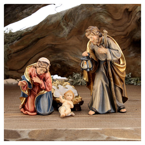 Large hut 12 pieces in painted wood from Val Gardena for Rainell Nativity Scene 11 cm 7