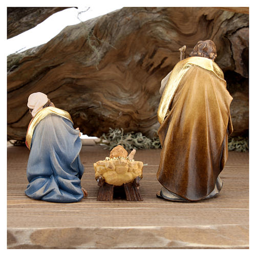 Large hut 12 pieces in painted wood from Val Gardena for Rainell Nativity Scene 11 cm 12