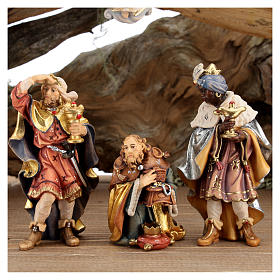 Capanna corteccia grande set 12 pezzi legno dipinto presepe Rainell 11 cm s4