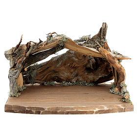Capanna corteccia grande set 12 pezzi legno dipinto presepe Rainell 11 cm s9