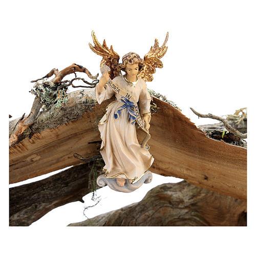 Capanna corteccia grande set 12 pezzi legno dipinto presepe Rainell 11 cm 6
