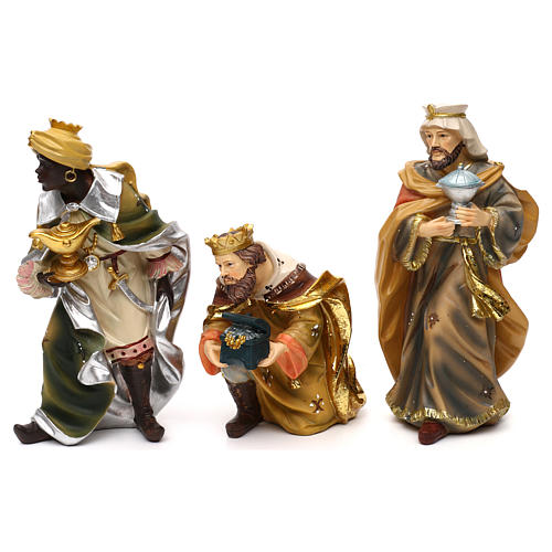 Nativity scene set in painted resin, Mathias model 19 cm 2