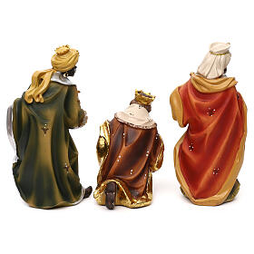 Complete nativity set Mathias model in colored resin 19 cm s7