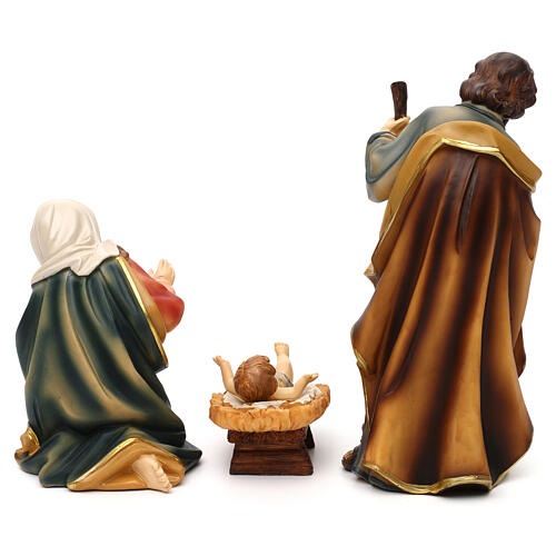 Complete nativity set Mathias model in colored resin 19 cm 6