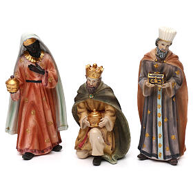 Full nativity set Orient style, in colored resin 25 cm s3