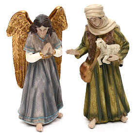 Full nativity set Orient style, in colored resin 25 cm s4
