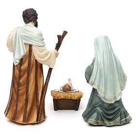 Full nativity set Orient style, in colored resin 25 cm s6