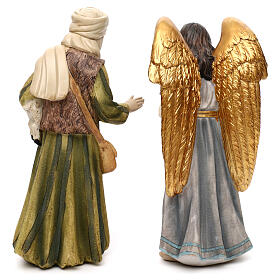 Full nativity set Orient style, in colored resin 25 cm s7