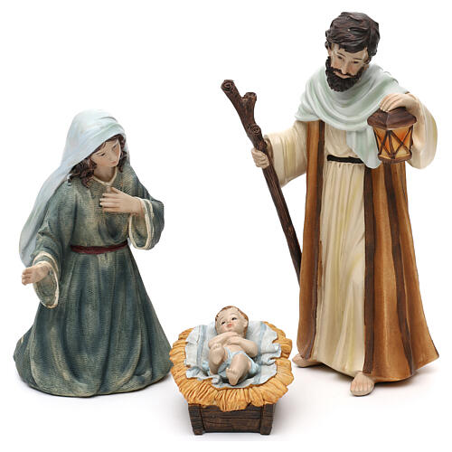 Full nativity set Orient style, in colored resin 25 cm 2