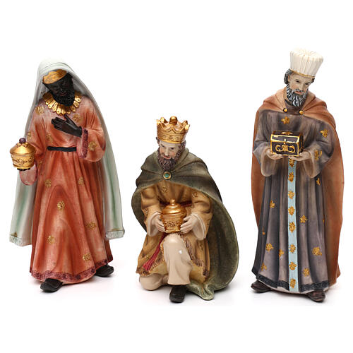 Full nativity set Orient style, in colored resin 25 cm 3