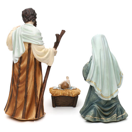 Full nativity set Orient style, in colored resin 25 cm 6