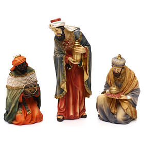Nativity scene set in painted resin, Eastern style 24 cm s2