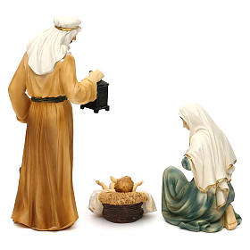 Nativity scene set in painted resin, Eastern style 24 cm s6