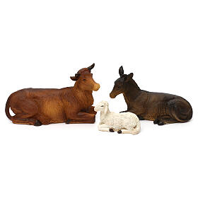 Complete nativity set Orientale style in colored resin, 24 cm s4