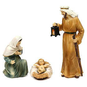 Complete nativity set Orientale style in colored resin, 24 cm s5