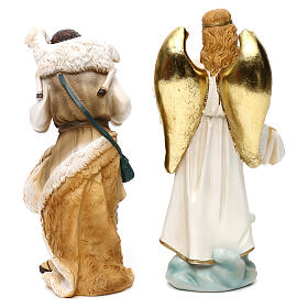 Complete nativity set Orientale style in colored resin, 24 cm s8