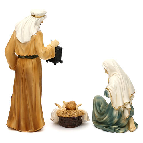 Complete nativity set Orientale style in colored resin, 24 cm 6