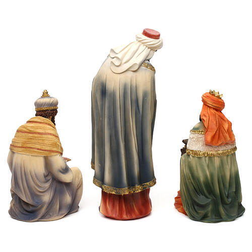 Complete nativity set Orientale style in colored resin, 24 cm 7
