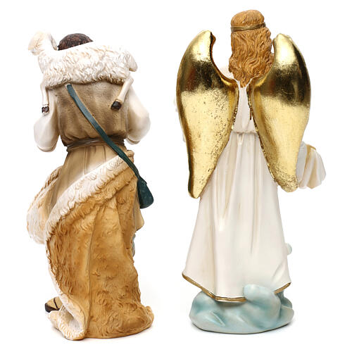 Complete nativity set Orientale style in colored resin, 24 cm 8