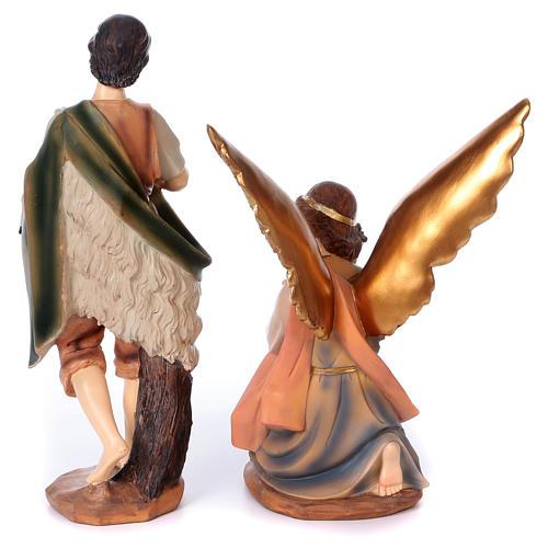 Komplett Krippe bemalten Harz 40cm 11 Statuen 8