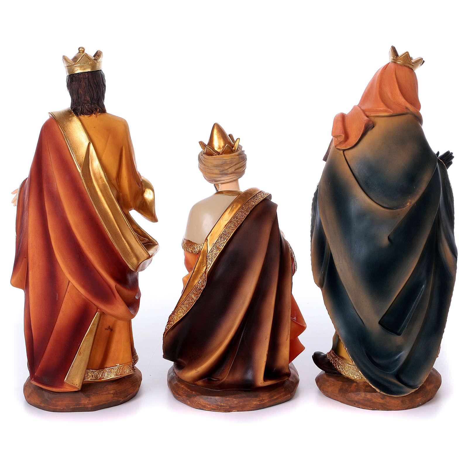 Presépio Sagrada Família Resina Pintada com figuras de altura média 40 cm 4