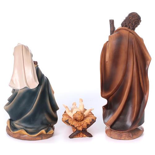 Presépio Sagrada Família Resina Pintada com figuras de altura média 40 cm 5