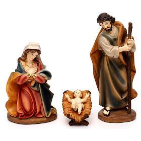 Nativity scene set in painted resin 30 cm s2