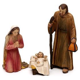 Crèche complète Nativité avec musicien résine colorée 20 cm s2