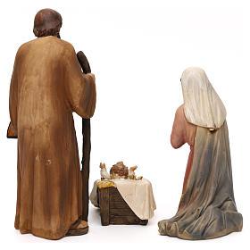 Crèche complète Nativité avec musicien résine colorée 20 cm s6