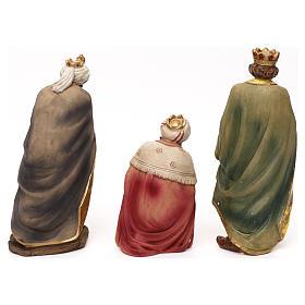 Crèche complète Nativité avec musicien résine colorée 20 cm s7