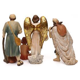 Crèche complète Nativité avec musicien résine colorée 20 cm s8