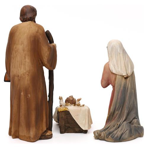 Crèche complète Nativité avec musicien résine colorée 20 cm 6