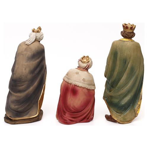 Crèche complète Nativité avec musicien résine colorée 20 cm 7