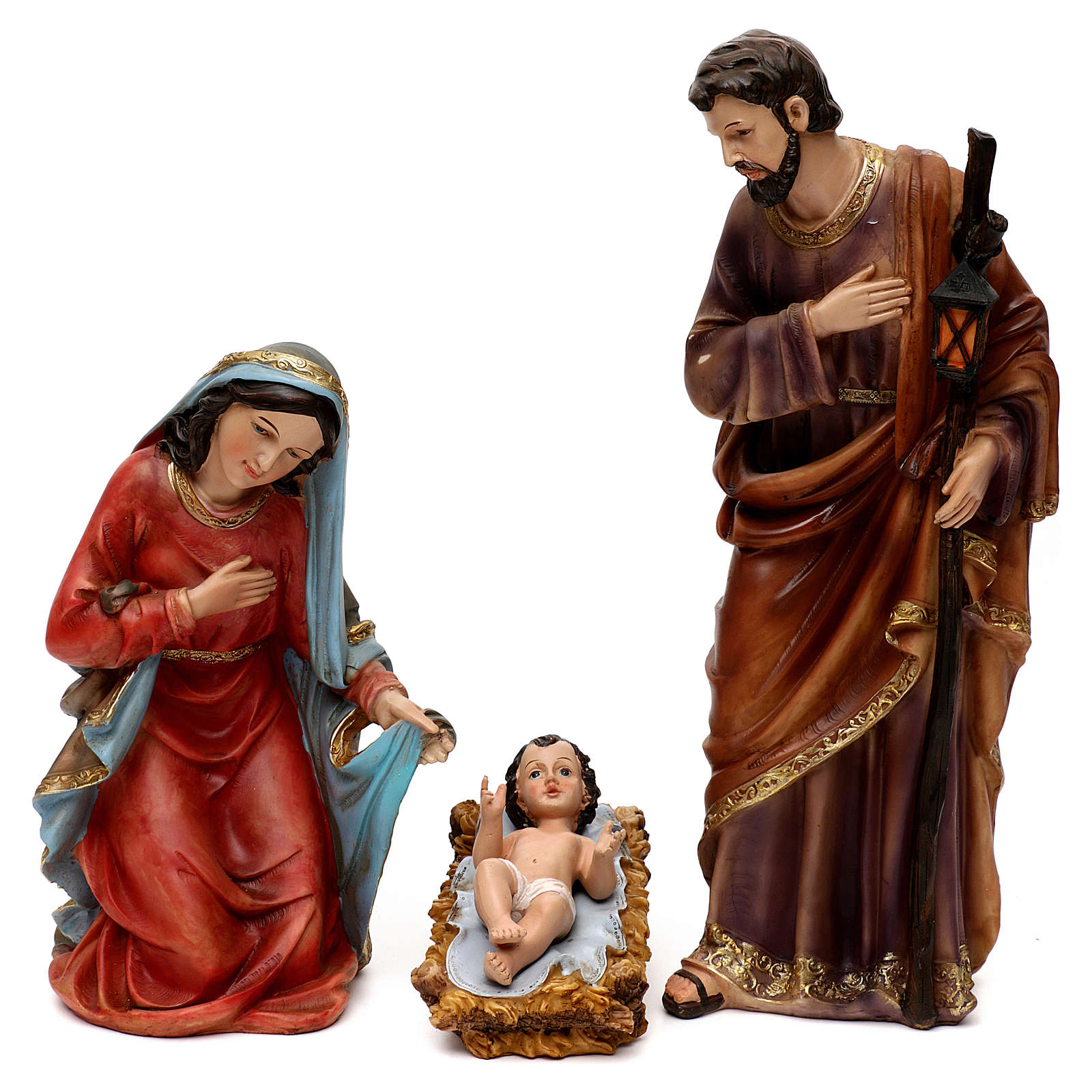 Complete Nativity set, in bright colored resin 40 cm 4