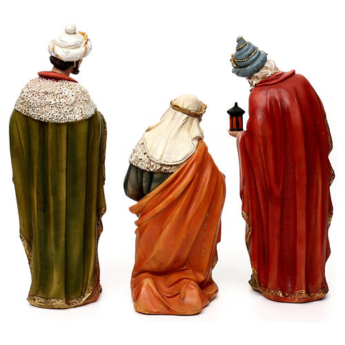 Complete Nativity set, in bright colored resin 40 cm 7