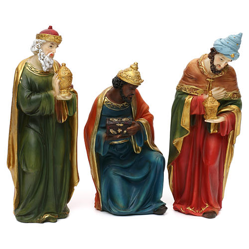 STOCK Nativity scene in resin, 11 statues 20 cm 3