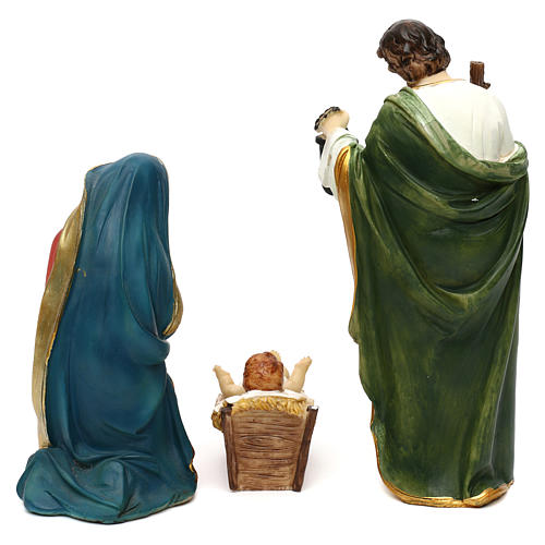 STOCK Nativity scene in resin, 11 statues 20 cm 6