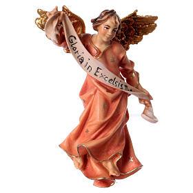Belén Val Gardena: Estatua Ángel rosa Val Gardena 12 cm belén Original