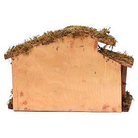 Hut with Nativity scene with 9 characters 12 cm s4