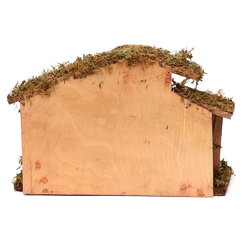 Hut with Nativity scene with 9 characters 12 cm 4