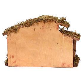 Cabane avec crèche 9 santons 12 cm s4