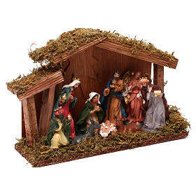 Stable with Nativity 9 characters 12 cm s3