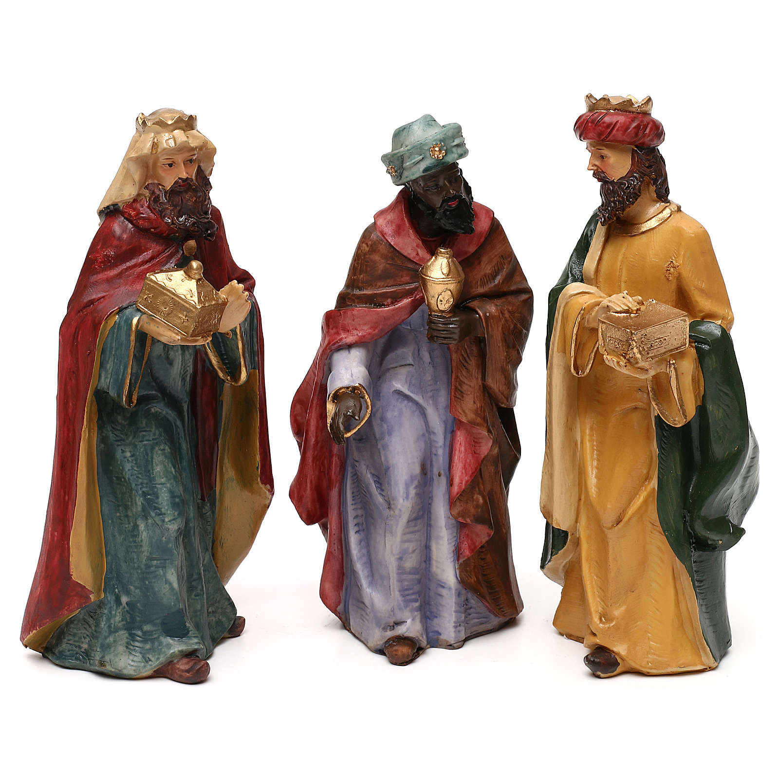 Nativity scene with 8 resin characters for Nativity scenes 18 cm 4