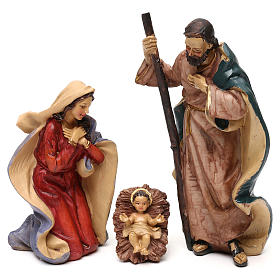 Nativity scene with 8 resin characters for Nativity scenes 18 cm s2