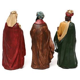 Nativity scene with 8 resin characters for Nativity scenes 18 cm s4