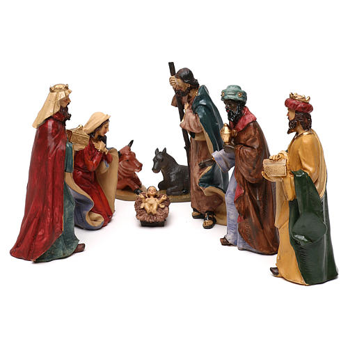 Nativity scene with 8 resin characters for Nativity scenes 18 cm 1