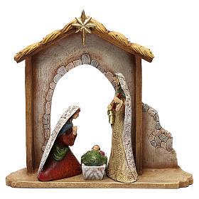 Nativity Scene 7 characters with hut 16 cm s2