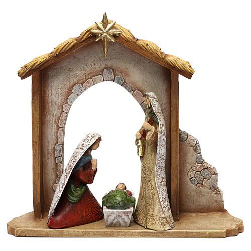 Nativity Scene 7 characters with hut 16 cm 2