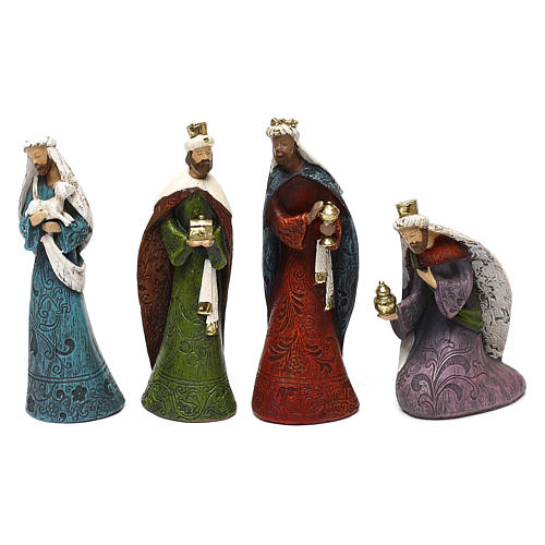 Nativity Scene 7 characters with hut 16 cm 6